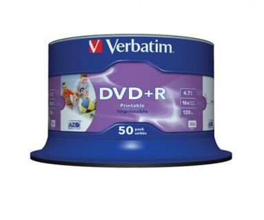 Verbatim Médium DVD+R 4,7GB 16x Printable 50-cake