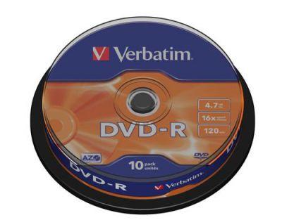 Médium Verbatim DVD-R 4,7GB 16x 10-cake