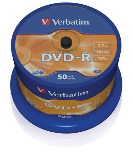 Verbatim DVD-R 4,7GB 16x, AZO, spindle, 50ks (43548)
