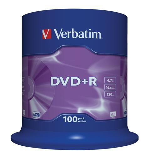 Médium Verbatim DVD+R 4,7GB 16x 100-cake