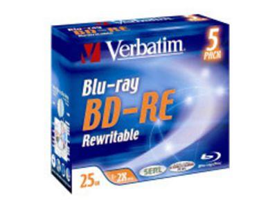 Médium Verbatim BD-RE 25GB 2x jewel