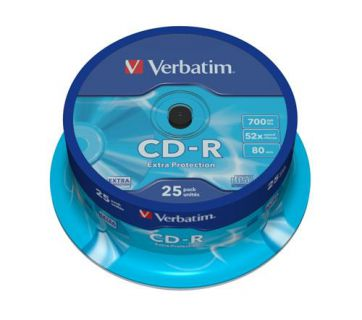 Médium Verbatim CD-R 700MB 80min 52x Extra Protection 25-cake