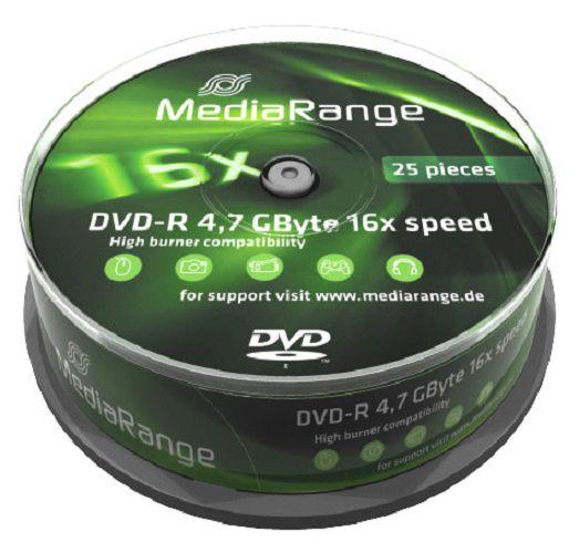 Médium MediaRange DVD-R 4,7 GB 16x 10-cake