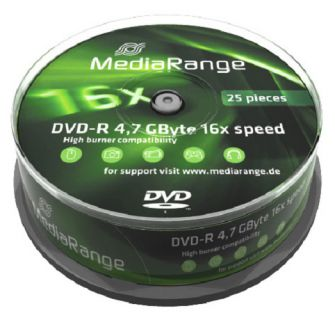 Médium MediaRange DVD-R 4,7 GB 16x 25-cake