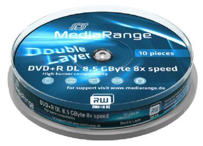 Médium MediaRange DVD+R DL 8,5 GB 8x 10-cake