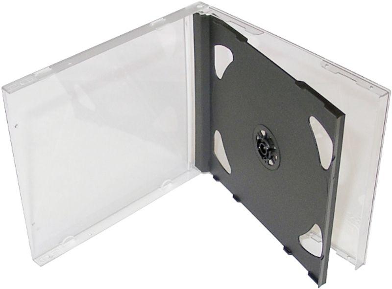 Obal box na cd 2CD jewel černý