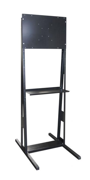 Držák univerzální stojan pro TV a monitory do volného prostoru, černý