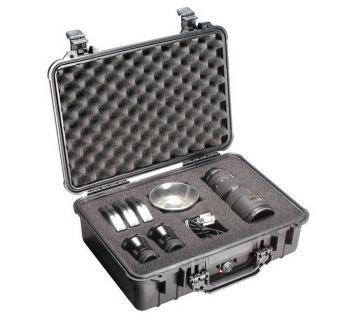 Kufr Peli 1500 s pěnou pro elektroniku, fotoaparáty, černé, odolné/vodotěsné