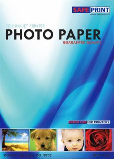 Safeprint Papír foto pro inkoustové tiskárny A4, lesklý, 135 g/m2, 20ks, samolepící