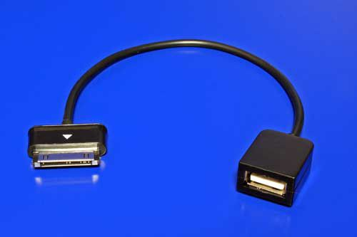 Redukce Roline USB A(F) - Galaxy Tab (M), OTG, 0,2m, černý