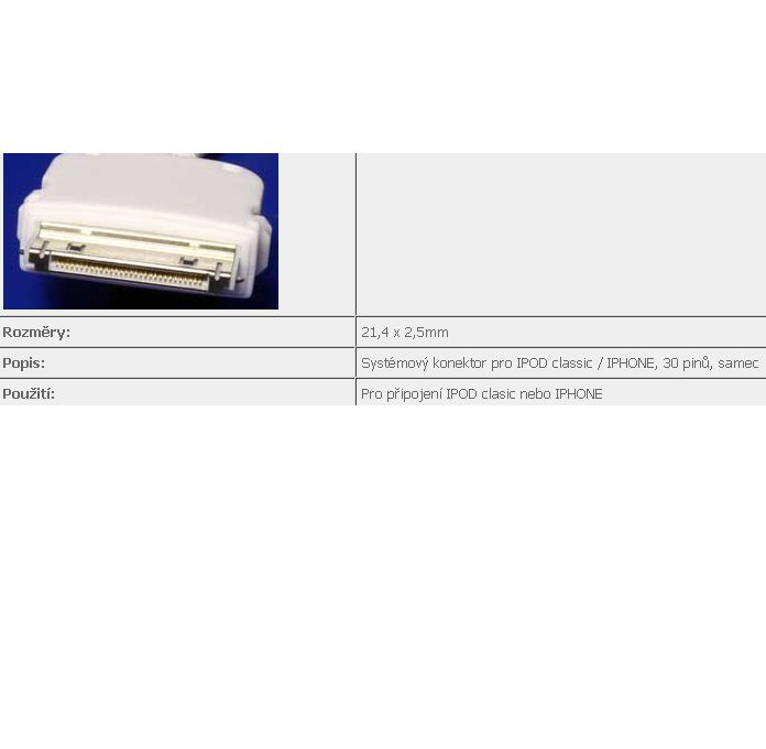 Kabel goobay USB A-ipod, iPhone/iPod, 1m, bílý