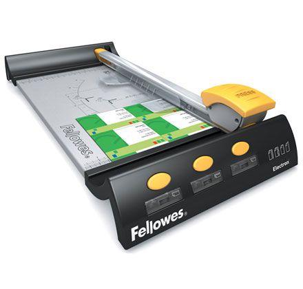 Řezačka Fellowes Electron A3 kolečková, 8 listů, kovová základna, LED