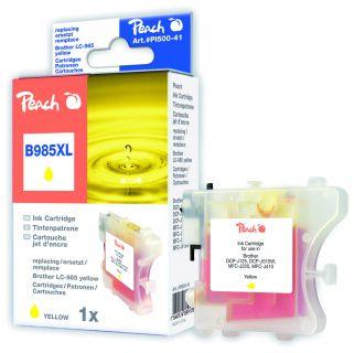 Inkoust Peach LC-985Y XL kompatibilní žlutá PI500-41 pro Brother DCP-J125 (875str./5%, 13m