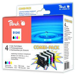Inkoust Peach LC-1240Bk,C,M,Y Combi Pack kompatibilní barevné+černý PI500-60 pro Brother M
