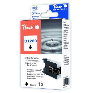 Inkoust Peach LC-1280Bk kompatibilní černý PI500-51 pro Brother MFC-J6510 (1515str./5%, 30