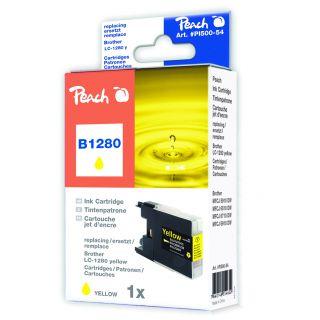 Inkoust Peach LC-1280Y kompatibilní žlutý PI500-54 pro Brother MFC-J6510 (2010str./5%, 19m