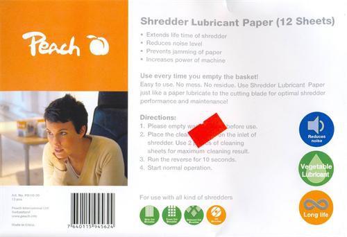Olej Peach (PS100-00) olejový papír pro údržbu skartovacích strojů