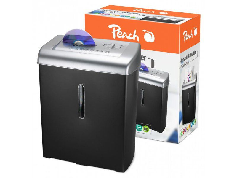 Skartovač Peach Cross cut 700XCD (PS500-20) 7stran+CD media, DIN 3, 15l - new design + RYCHLÉ DODÁNÍ