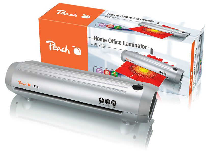 Laminátor Peach Home Office A3 silver line (PL716 new), 125mic + laminovací fólie za 1,00!