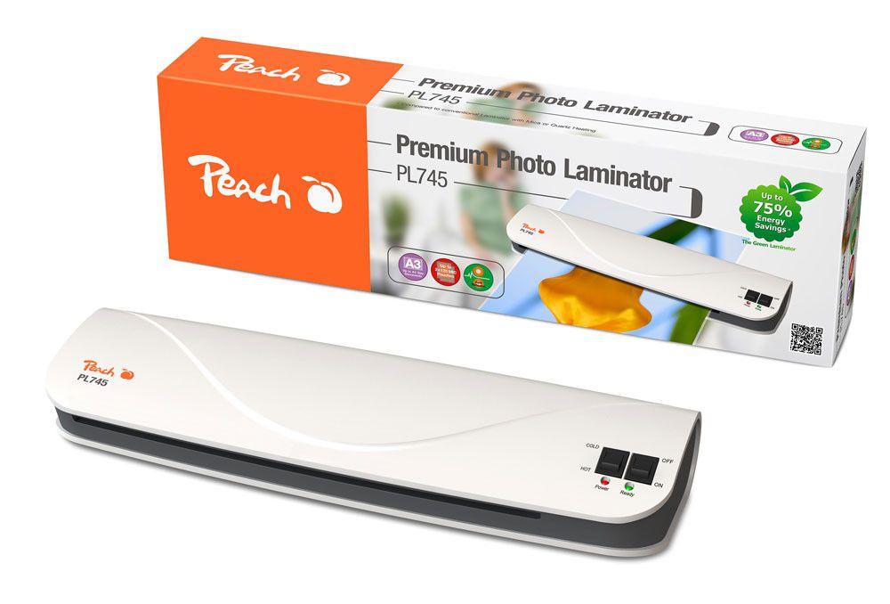 Laminátor Peach Premium Photo (PL745) A3, 125mic, i pro studenou laminaci