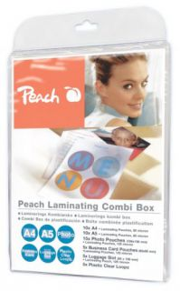 Laminovací fólie Peach PPC500-02 set lesklých 10ks A4, 5ks A5, 5ks Fotosize, 5ks Vizitek