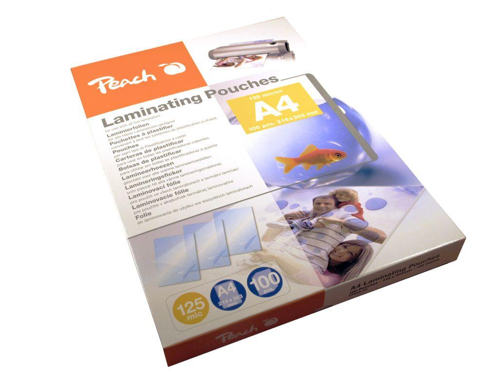 Laminovací fólie Peach PP525-02 lesklé 100ks A4, 125mic