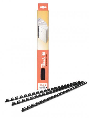 Vázací hřbet Peach plastový A4 průměr 6mm černý 100ks (PB406-02)