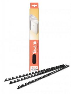 Vázací hřbet Peach plastový A4 průměr 6mm červený 100ks (PB406-03)