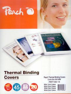 Termodesky Peach pro termální vazbu set s průměrem hřbetu 1,5/ 3/ 4 a 6 mm (PBT100-14
