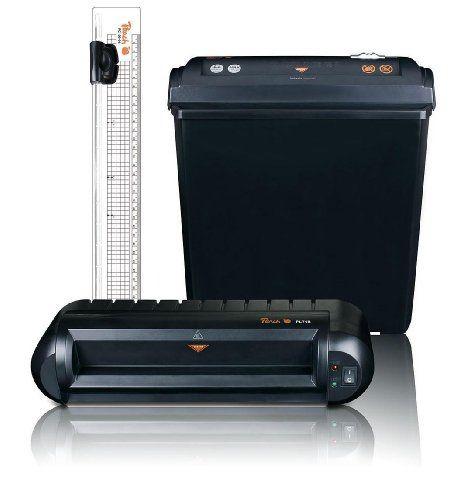 Bundle Peach Office Kit 3 v 1 (PBP200) laminátor PL718, skartovačka PS400-40, pravítko s ř