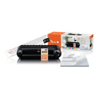 Bundle Peach Office Kit 4 v 1 (PBP300) laminátor PL718, pravítko s řezačkou PC100-04, kalk