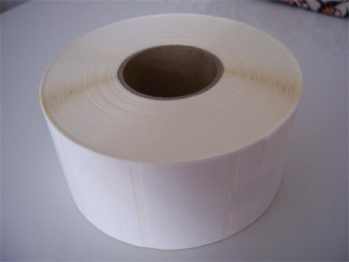 Etikety 45mm x 45mm bílý papír, cena za 2000ks/1kotouč/D40
