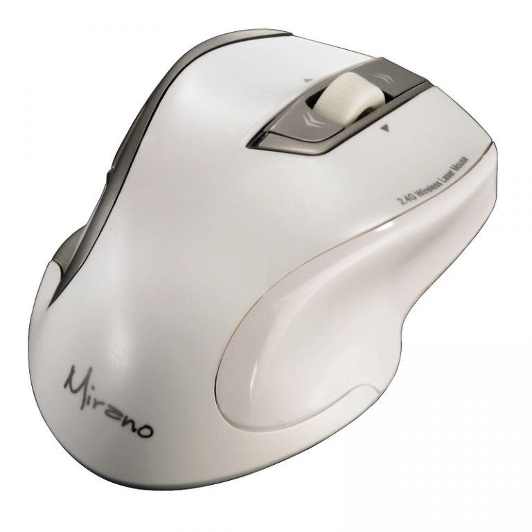 Myš Hama Mirano bezdrátová, laserová, 2.4GHz 1600dpi, USB, bílá