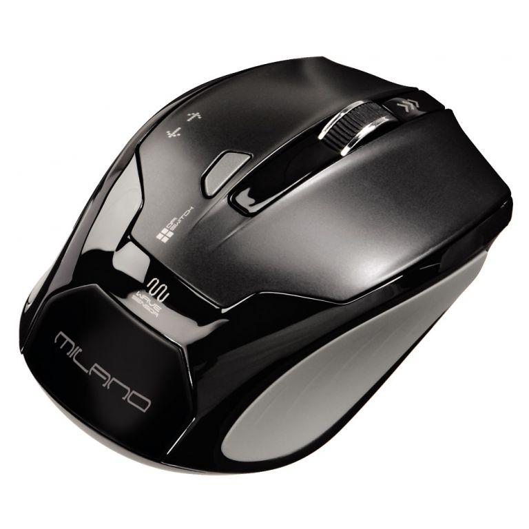 Myš Hama Milano bezdrátová, optická, 2.4GHz 1600dpi, USB, černá