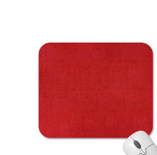 Podložka pod myš látková červená, 24cm x 22cm, 3mm