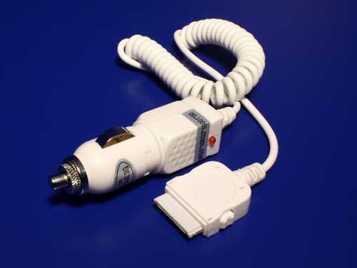 Redukce /adaptér napájecí Car (12V-24V) - iPod/iPhone, 1,5m, bílý