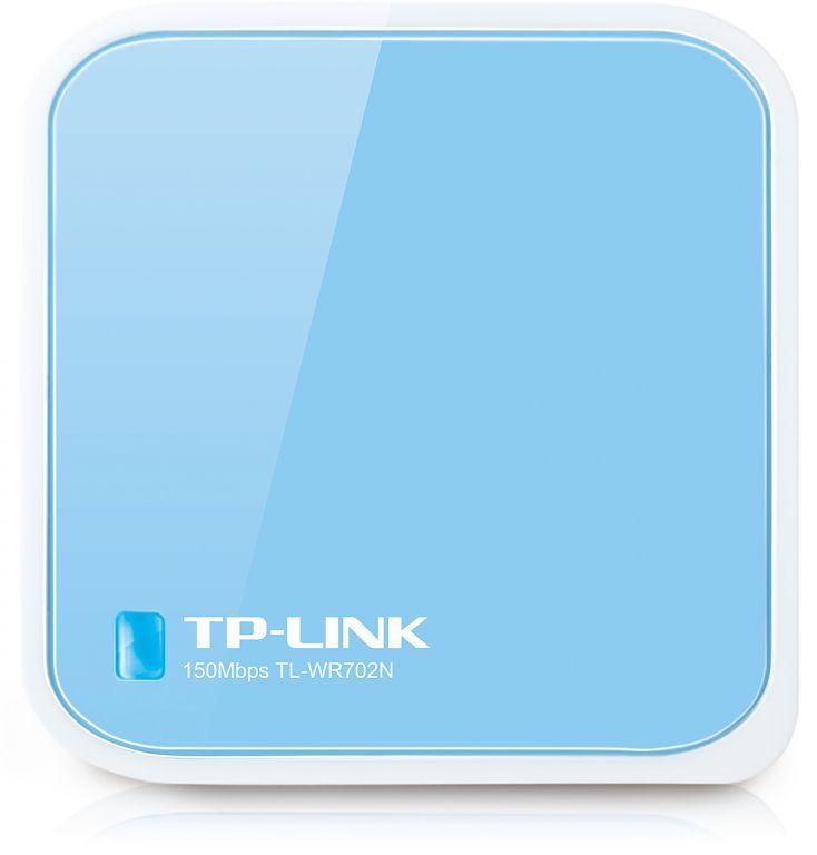 WiFi router TP-Link TL-WR702N Mini poket AP/router, 1x WAN, 1x micro USB (2,4GHz, 802.11n)