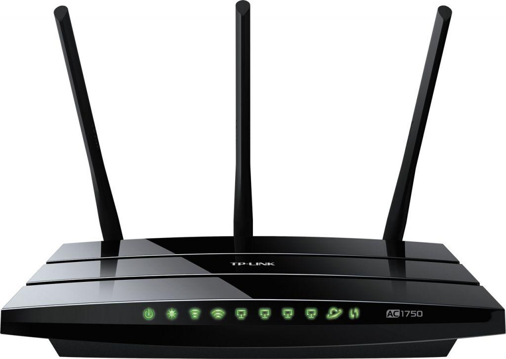 WiFi router TP-Link Archer C7 AC1750 dual AP/router, 4x LAN Gigabit, 2x USB/ 450Mbps 2,4/