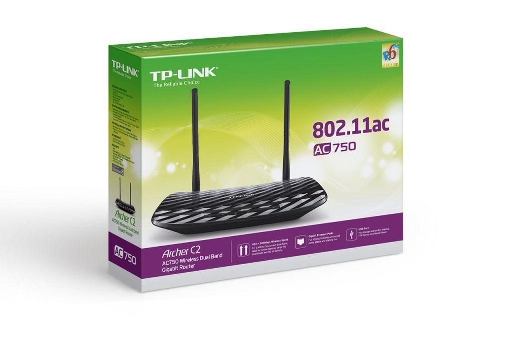 WiFi router TP-Link Archer C2 AC733 dual AP/router, 4x LAN Gigabit, 2x USB/ 300Mbps 2,4/ 4