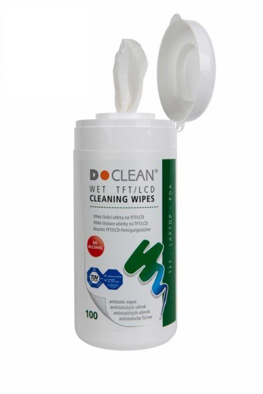 D Clean Vlhčené čistící utěrky na obrazovky LCD/Plasma v dóze (100 ks)