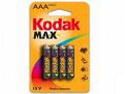 Baterie Kodak K3A-4 Alkaline Max balení 4 ks, mikrotužka