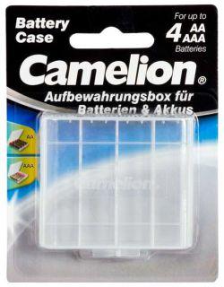 Pouzdro Avacom transparentní pro 4x AA/AAA baterie - blistr