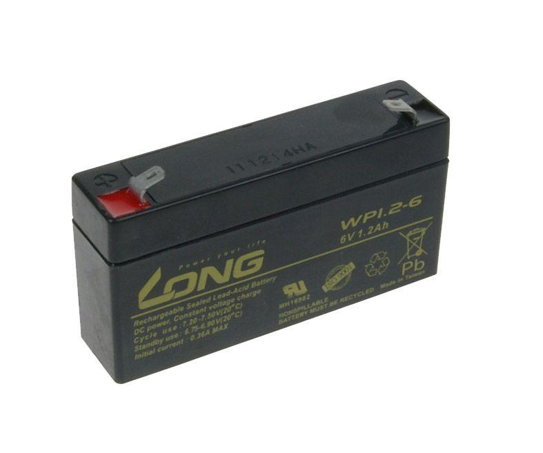 Baterie Avacom Long 6V 1,2Ah olověný akumulátor F1 - neoriginální