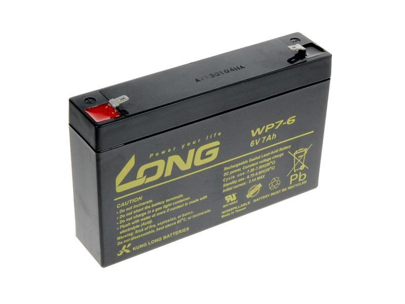 Baterie Avacom Long 6V 7Ah olověný akumulátor F1 - neoriginální