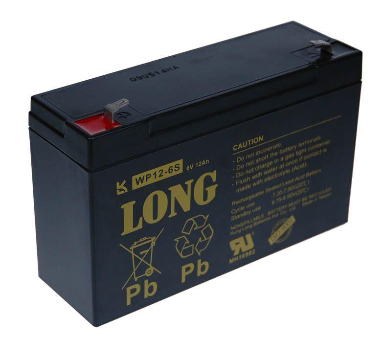 Baterie Avacom Long 6V 12Ah olověný akumulátor F1 - neoriginální