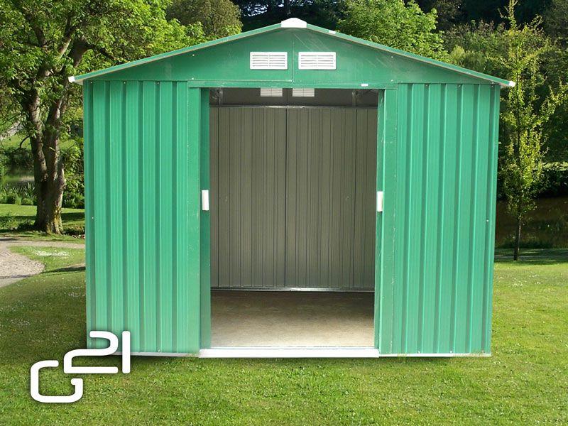 G21 23883 Zahradní domek GAH 429 - 251 x 171 cm, zelený