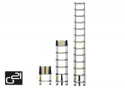 Teleskopický žebřík G21 GA-TZ13-3,8M hliníkový