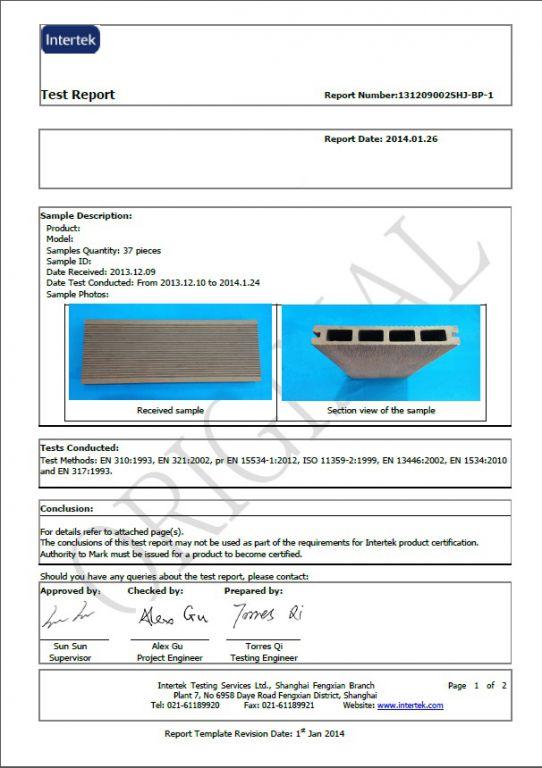 Terasové prkno G21 2,5*14*300cm, Ořech mat. WPC