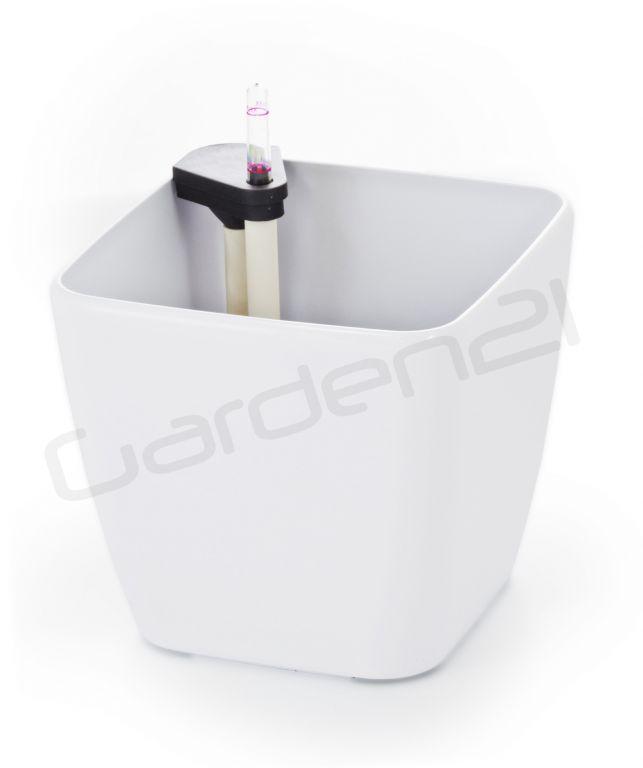Samozavlažovací květináč G21 Cube bílý 22cm