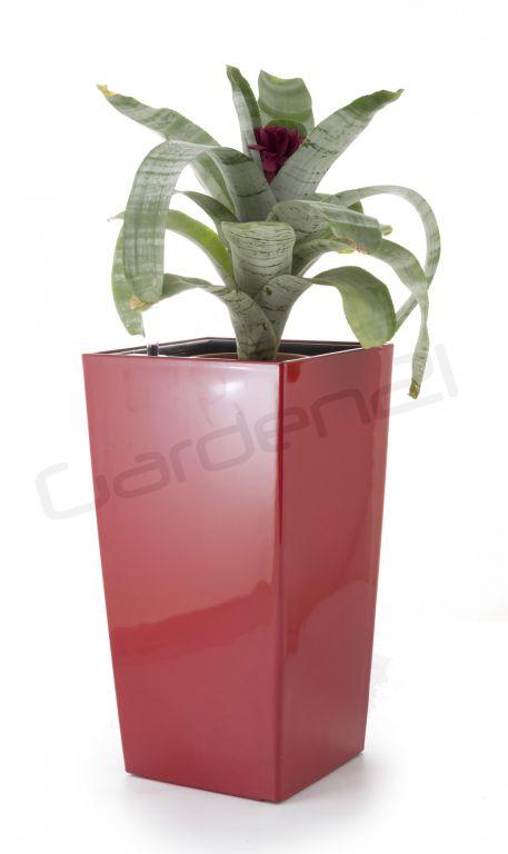 Samozavlažovací květináč G21 Linea small červený 28cm
